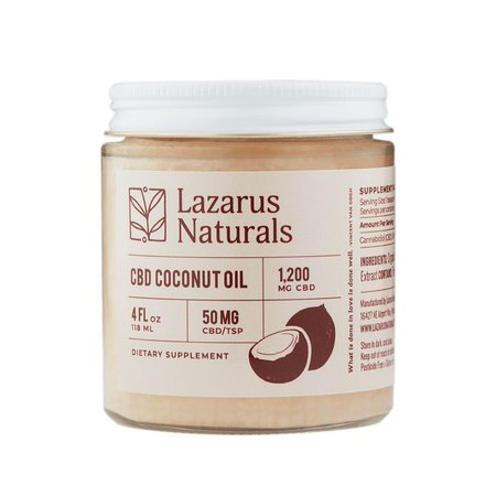Lazarus Coconut Oil 1200mg 4oz.