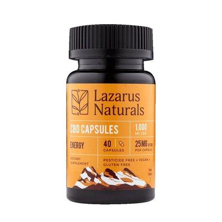 Lazarus Energy Formula 25mg CBD Capsules 40ct