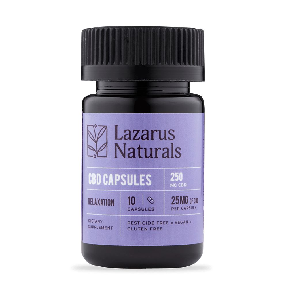 Lazarus Relaxation Formula 25mg CBD Capsules 10ct