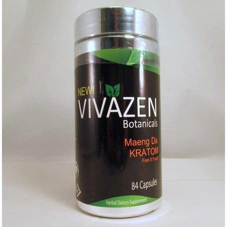 Vivazen Botanicals Maeng Da Kratom 84caps (55g)