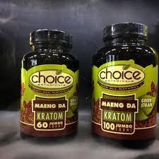 Choice Maeng Da Green Kratom 100 Jumbo caps