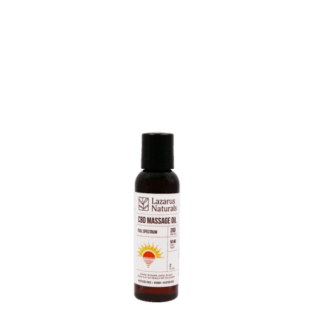 Lazarus CBD Massage oil 2oz. 200mg