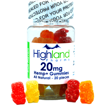 Highland Pharms 20mg All Natural Gummies 20 pieces