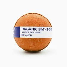 CBD Living Bath Bomb Amber Bergomot