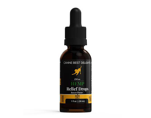 Canine Best Delights 250mg Relief Drops Bacon Flavor
