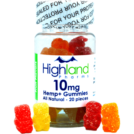 Highland Pharms 10mg All Natural Gummies 20 pieces