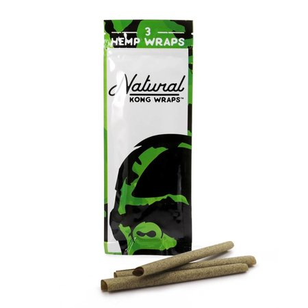 Natural Kong 3 Hemp Wraps