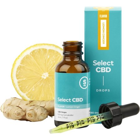 Select CBD 1000mg Drops Lemon Ginger