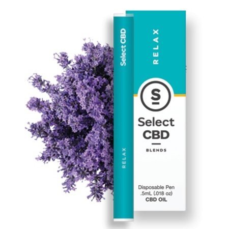 Select CBD Disposable Vape Pen Lavender 250mg