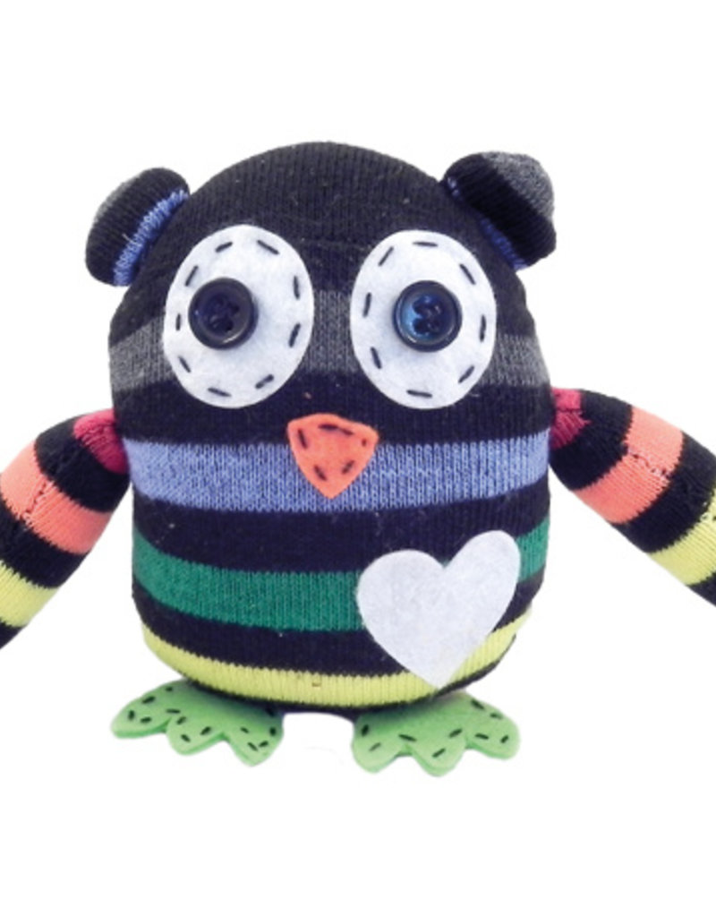 Apples to Pears Gift in a Tin- Mini Sock Owl