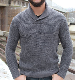 Irelands Eye Men's Fanore Textured Shawl Collar Sweater