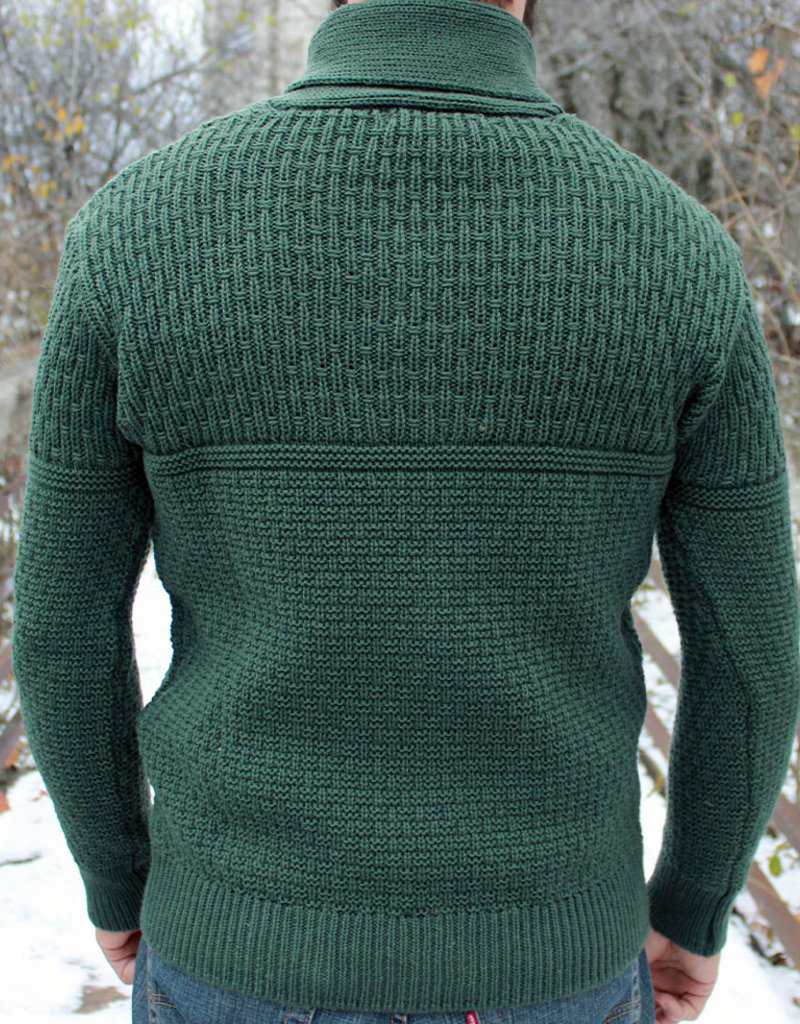 Irelands Eye Men's Fanore Textued Shawl Collar Sweater