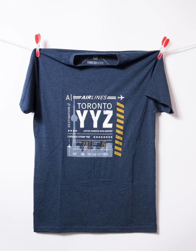 THREADWORK Mens Tee YYZ Toronto