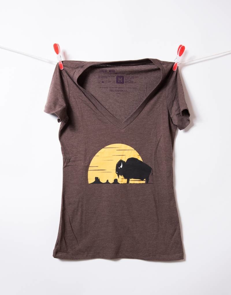 THREADWORK Womens Tee - Monument Bison