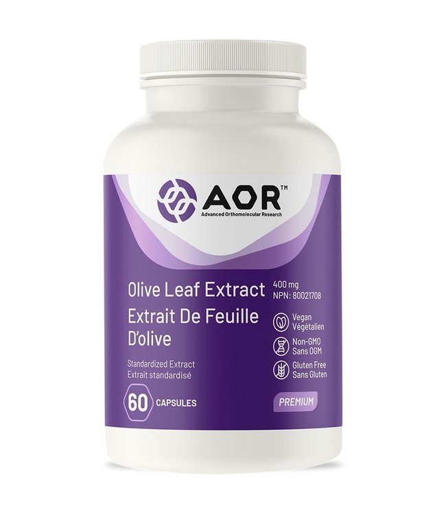 AOR Olive Leaf Extract, 60 caps