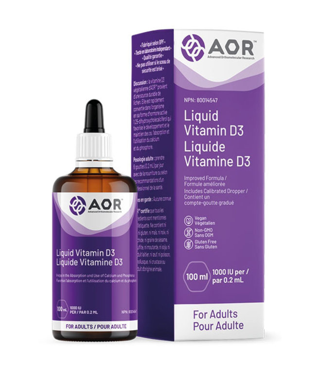 AOR Liquid Vitamin D3, 50 ml