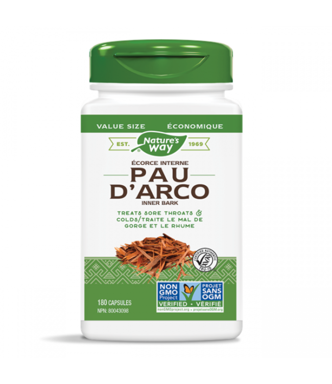 Nature's Way Pau D'arco Inner Bark, 100 capsules