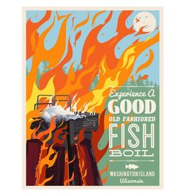 Fish Boil Poster-Washington Island
