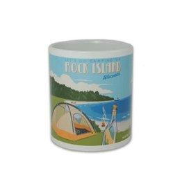 Camping on Rock Island Mug