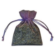 Small Lavender-Filled Organza Sachet IL