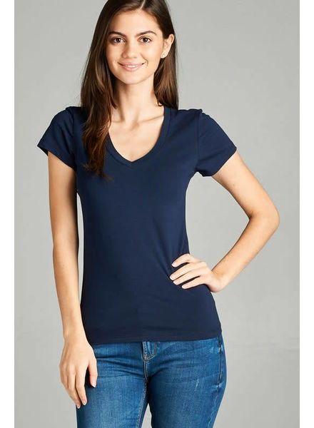 Navy V Neck T-shirt