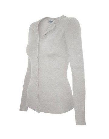 Heather Grey Round Neck Cardigan