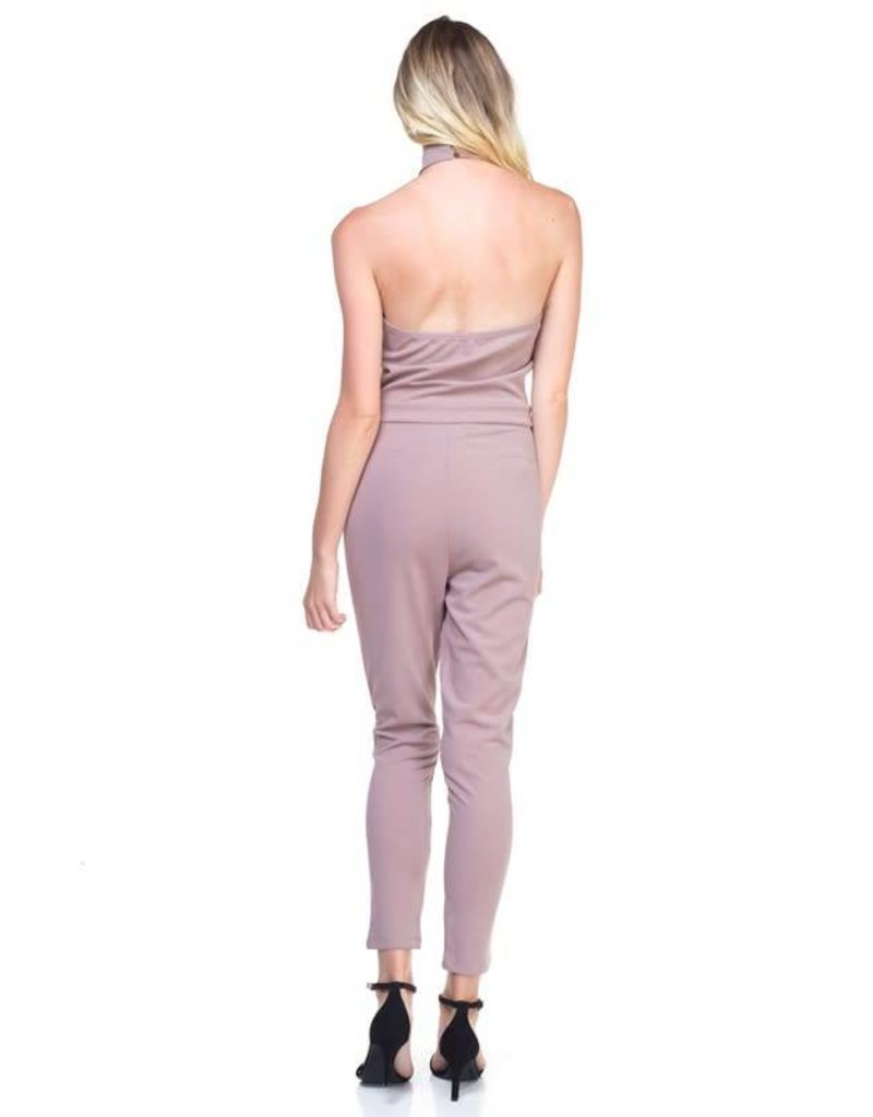 Taupe Body Sculpt Jumpsuit