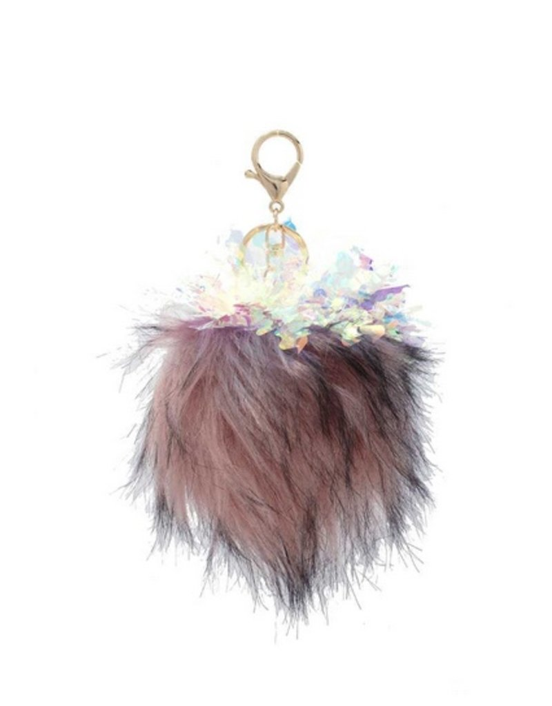 Party Time Pom Key Ring