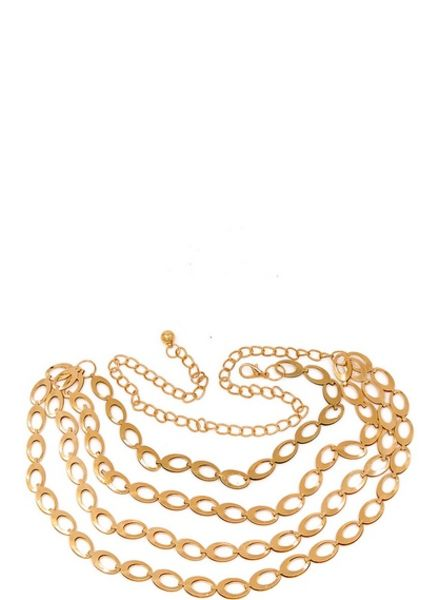 Honey Oval Chain Belt