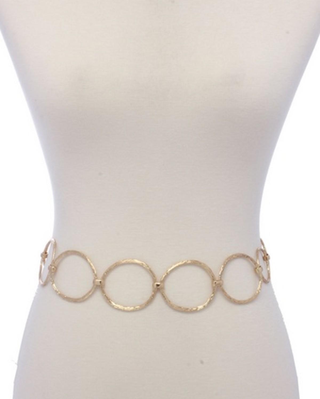 Imperfect Circles Belt Gold