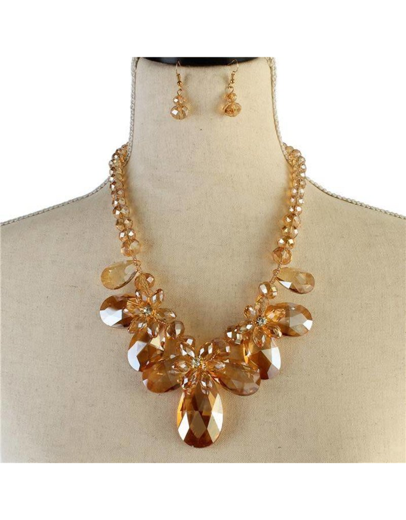 Floral Gems Necklace Set