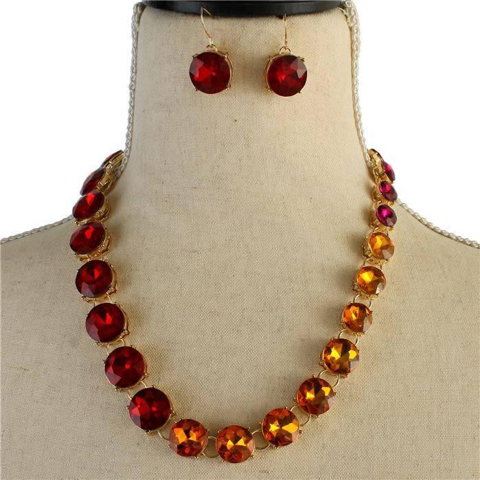Ombre Gems Necklace Set
