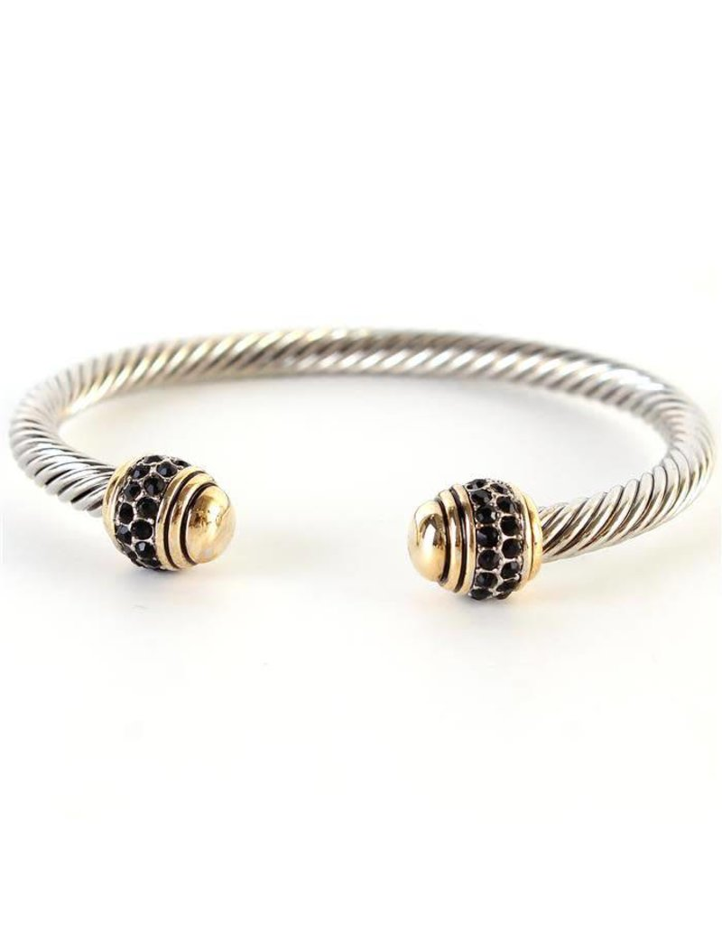 Cable Jewel Cuff