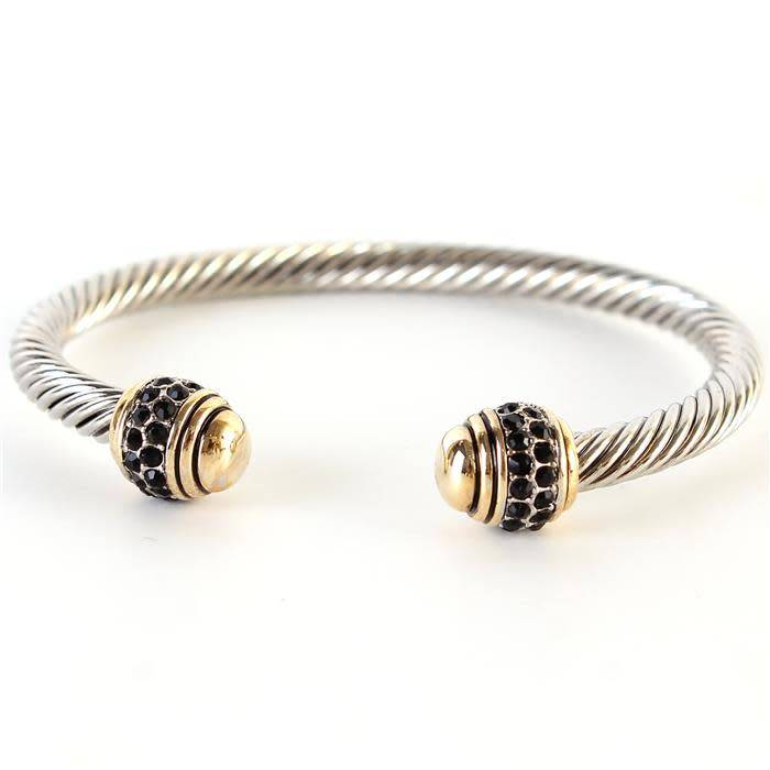 Cable Jewel Cuff
