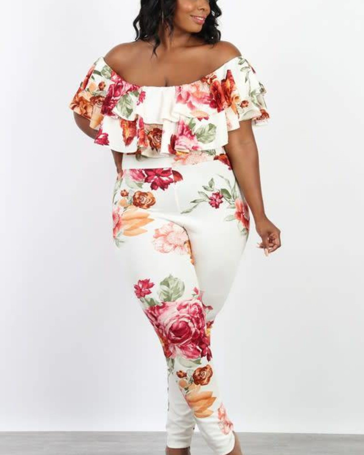 PLUS On & Popping Floral Jumpsuit