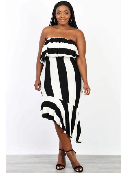 PLUS Bring It Down Striped Dress