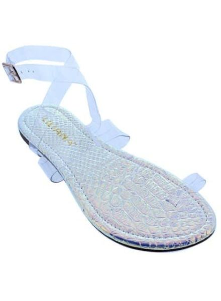 Clear Your Thoughts Sandals Pink Hologram