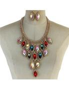 Dripping Gems Necklace Set