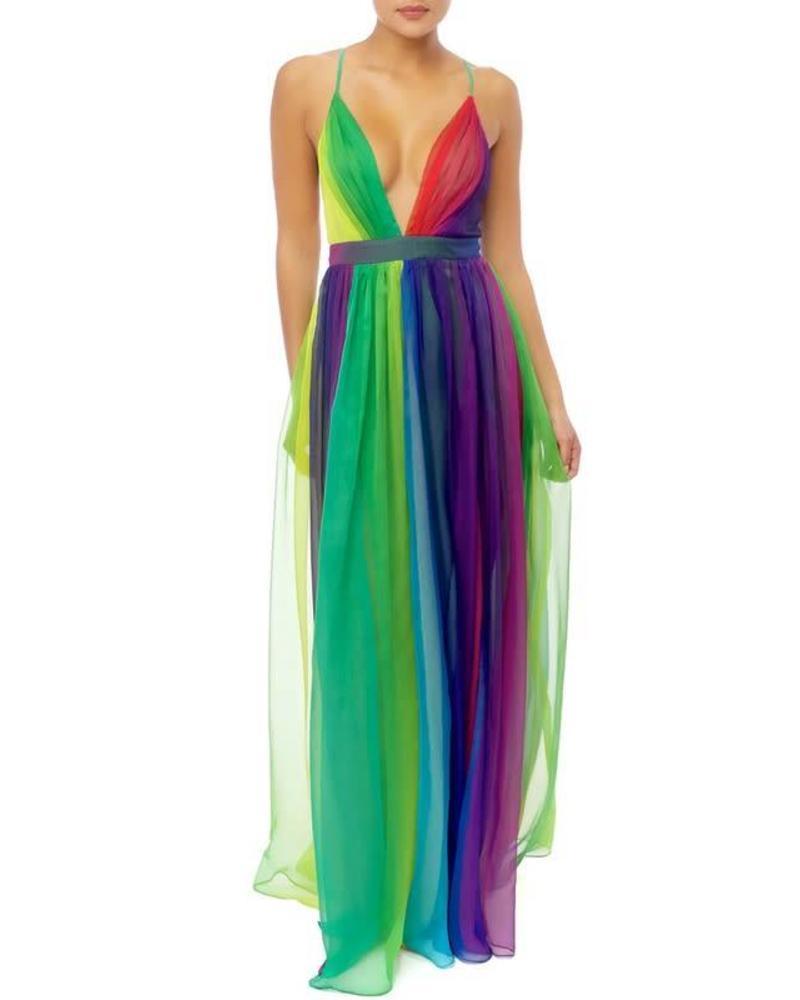 054be3e51f6 Rainbow Delight Maxi Dress - JaDazzles