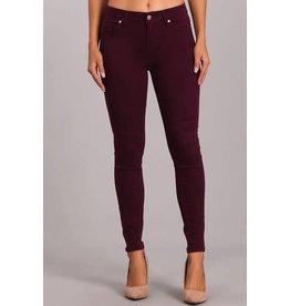 Plum Mid Rise Skinny Pants