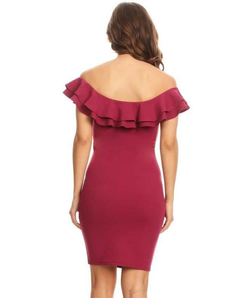 Frill Seeker Dress Magenta
