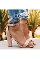 Side Block Patent Heels