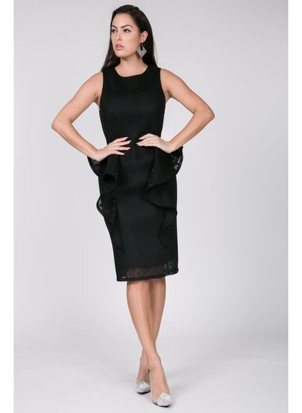 Reigning Beauty Honeycomb Dress Black