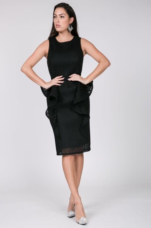 Reigning Beauty Honeycomb Dress Black