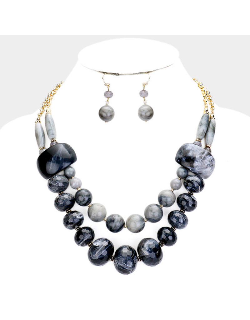 Stony Path Necklace Set