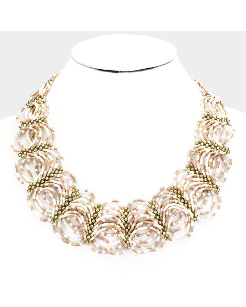 Beaded Cyclone Necklace
