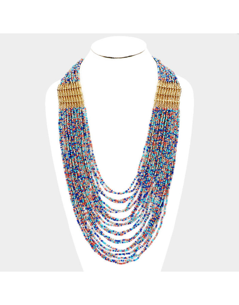Connected Dots Beaded Necklace Set