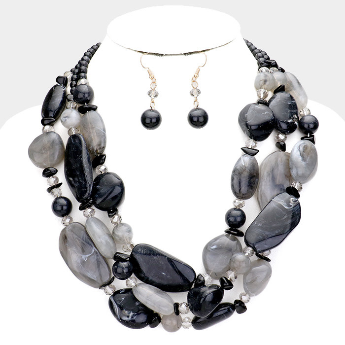 Natural Stone Necklace Set