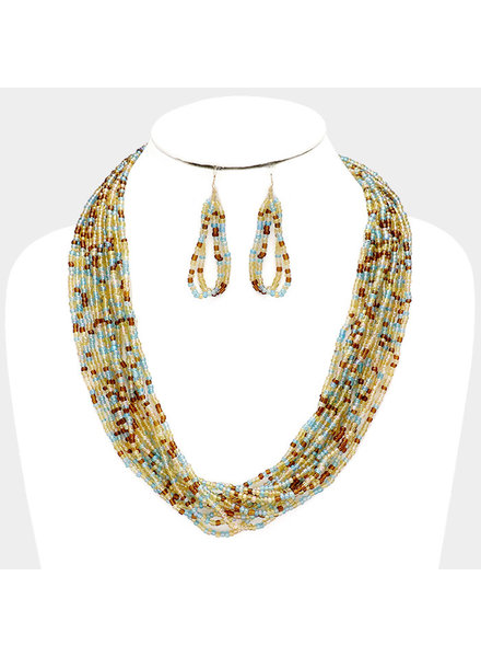 Fun In The Sun Beaded Necklace Set