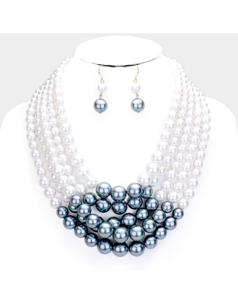 Sprinkle of Pearl Necklace Set